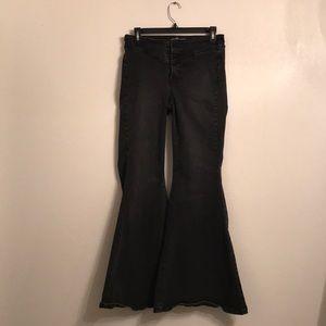 Free People Wide Leg Flare Bell Bottom Jeans Sz 30